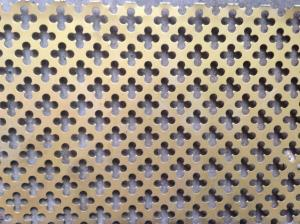 China 1.22x2.44m Stainless Steel Perforated Metal Sheet Hexagonal Hole on sale