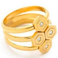 Stackable Fashion Jewelry Rings Geometrical Hexagon Ring For Young Girls