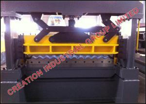 China Cameroon Aluzinc Roof Panel Roll Forming Machine Corrugated Sheet Making Machine on sale