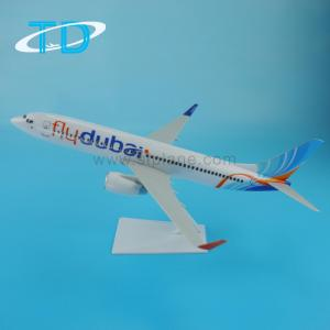 "China B737-800(19.7cm) ""Flydubai"" plastic model aircraft gift items for resale on sale"