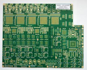China Multilayer LED HDI PCB board with gold finger , Through hole 0.23mm on sale