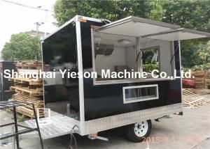 Quality Black Car Paint Street Fryer Food Mobile Coffee Cart CE Approved For Sale