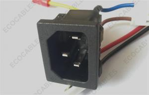 quality ac power wire assy hook up wire 18 awg with snap-in universal  pnl