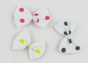 China Beautiful Bow Tie Ribbon Elastic Hair Bands Butterfly Hair Clips on sale