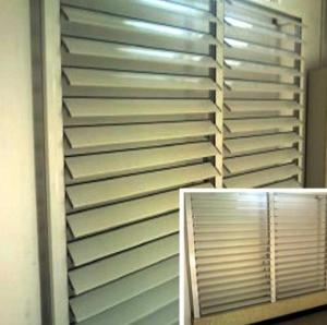 China Blind / Shutter Industrial Aluminum Profile , Louver / Jalousie Extrusion Profiles on sale
