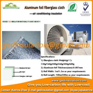 China Aluminum foil laminated fiberglass air conditioning duct insulation on sale