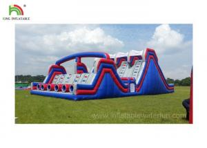 China 4 Lane Inflatable Sports Games / Military Boot Camp Obstacle Course on sale
