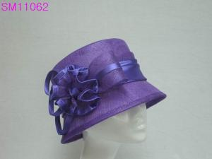 China Cloche Simple Sinamay Ladies Fashion Hats , ladies wedding hats on sale