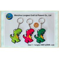 China Dinosaur Customized soft PVC keychain in multicolor / custom printed key chains on sale