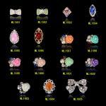 розовые украшения искусства ногтя ювелирных изделий 3Д моды цветка 3Д пригвождают оформление МЛ1591-1605 красоты