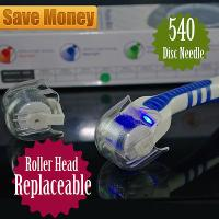 Head Replaceable Derma Roller  LED Red Light Acne Scars Wrinkles Removal