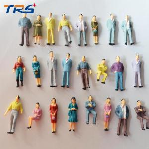 China 1:50 ABS scale plastic model painted colorful people  3.6cm for model building materials or toys on sale