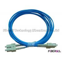 3.0mm Blue Jacket Fiber Optic Jumper Multimode Duplex Fiber Optic Cable Waterproof