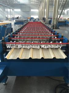 China Coated Sheet Steel Cold Roll Forming Machine With Touch Screen PLC Frequency Control on sale