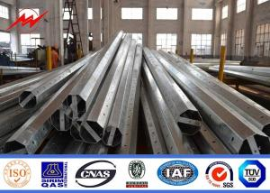 China Traditional Standard Electric Steel Power Pole 69KV For Overhead Line Project on sale