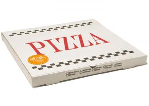 China White Corrugated Pizza To Go Boxes, Folding 8 Inch Pizza BoxesRecycled on sale