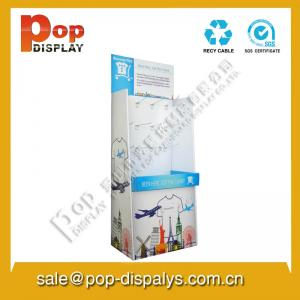 China Brochure Corrugated Paper Display Stands With Hook Lightweight on sale