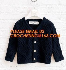 China Comfortable sweater children knitwear boys cardigan manufacturers, Boy Thick Clothing Kids Winter Sweater Coats With Fle on sale