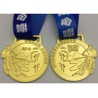 Die Casting Metal Award Medals Brass Material Type For Bicycle Race Sports