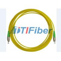 FC/APC-FC/APC Fiber Optic Patch Cord Simplex 3.0mm PVC Yellow Jacket