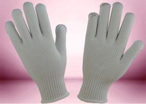 China PVC Dots Cotton Knitted Gloves Seamless Construction Non Toxic Materials on sale