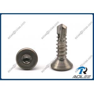 China 304/316/18-8/410 Stainless Steel Hex Socket Flat Head Self-drilling Tek Screws on sale