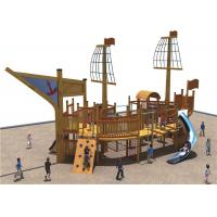 Children Wooden Commercial Playground Equipment New Design With Stainless Steel Slide