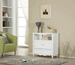 China White Wood Small Simple Entryway Console Table With Drawer Storage on sale