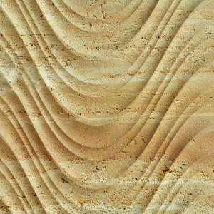China Natural travertine 3d indoor decor wall art paneling on sale