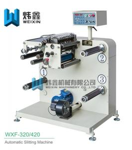 China Horizontal Automatic Slitting Machine / White Polyester Film Slitting Machine on sale