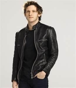 China sportswear Windproof fashionable eather bomber Fleece Lined Leather jacket for men on sale