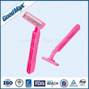 China Close Shave Good Max Razor Pink Color For Sensitive Skin With Lubricant Strip on sale