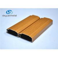 Wood Grain Aluminum Extrusion Profile For Decoration Alloy 6063-T5 / T6