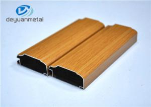 China Wood Grain Aluminum Extrusion Profile For Decoration Alloy 6063-T5 / T6 on sale