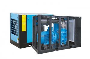 China Efficient High Pressure Screw Compressor , Two Stage Screw Air Compressor on sale