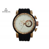 China Silicone Strap Male Multifunction Wrist Watch Alloy Watch Case 5 Needles 2 Rounds on sale