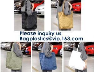 China Custom Durable Waterproof Reusable Washable Brown Tote Paper Tyvek Shopping Bag, Recycle Gift Tyvek Shopping Bag, Bageas on sale