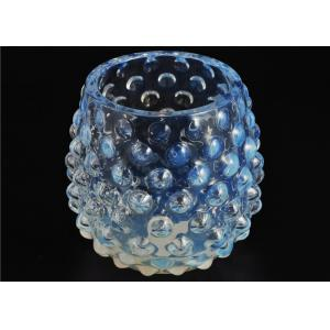 Quality Votive Handmade Glass Candle Holders Colored 530Ml Capacity Elegant for sale