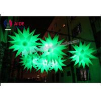 China Blow Up Christmas Decorations Inflatable LED Star 1M With Multi Color Lights on sale