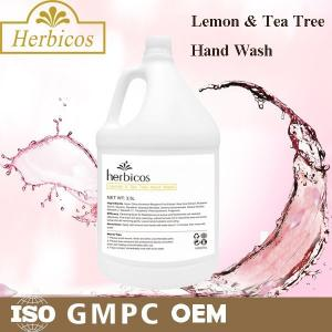 China SPA Lemon And Tea Tree Hand Wash Skin Care Lotion 3.78L With Plastic Jar on sale