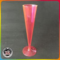 China Neon Plastic Champagne Flute Glasses on sale