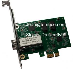 China Intel82583V PCIeX1 Pcie Gigabit Card Fiber , NIC PC Card on sale