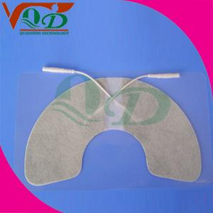 China White laminated cloth Carbon Paste physiotherapy, TENS Electrode Pads 45 * 45mm on sale
