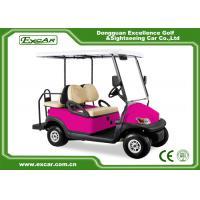 China Pink 48 Voltage Trojan Battery 4 Passenger Golf Cart Rear Drum Brake Type on sale
