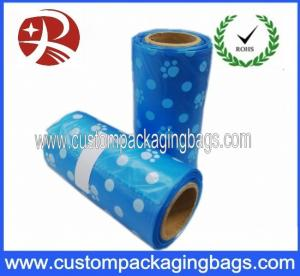 China 100% Biodegradable Blue Dog Poop Bags 100 Micron For Dog Waste on sale