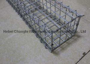 China PVC Coated Welded Rock Filled Gabion Cages , Electro Galvanized Gabion Stone Cages on sale