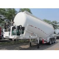 33000L Dry Bulk Cement Powder Tanker Semi Trailers With Carbon Steel Material