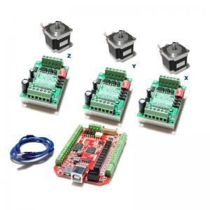 China TB6560 3A CNC Router Controller 57mm Stepping Motor MACH3 USB CNC Program Driver Kit on sale