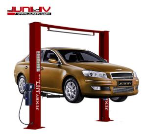 China 4000kg Car Vehicle Lift 3310mm Overall Width Automatic Stop Bar 24V Control Box on sale