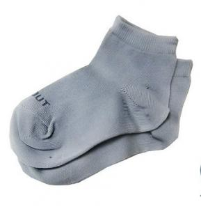 China OEM Grey Personalized Knitted  Anti-Slip Baby Ankle Socks with 100% cotton fabric on sale